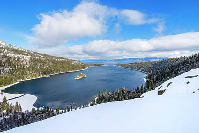 Print featuring the photograph Emerald Bay Slopes by Brad Scott