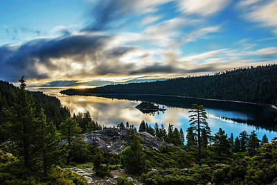 Print featuring the photograph Emerald Bay Sunrise Lake Tahoe by Brad Scott