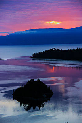 Photograph - Emerald Bay Sunrise Portrait by Sean Sarsfield
