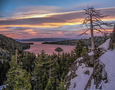 Photograph - Emerald Bay Sunset by Martin Gollery