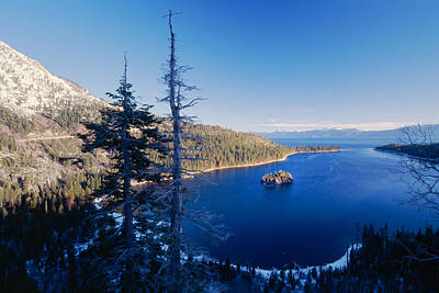 Island Lake Tahoe Photograph - Emerald Bay Winter Scenic by George Oze