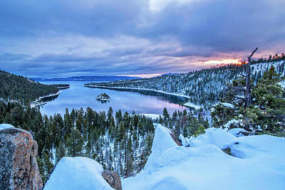 Photograph - Emerald Bay Winter Sunrise by Brad Scott