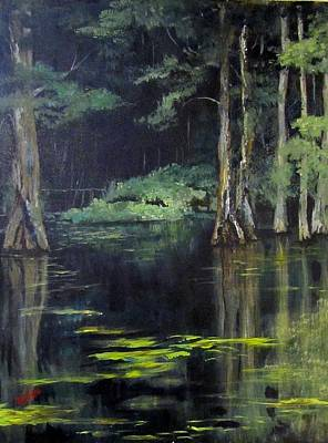 Emerald Bayou Art Print by Barbara O'Toole