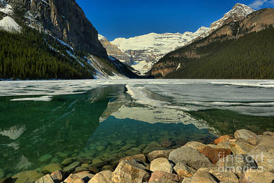 Emerald Blue Lake Louise Spring Waters Art Print by Adam Jewell