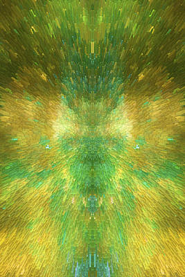 Emerald City - Abstract  Art Print by SharaLee Art