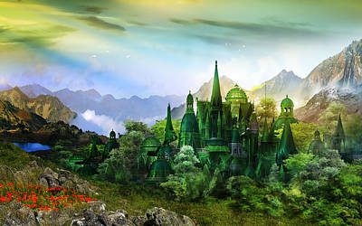 Baum Wall Art - Digital Art - Emerald City by Karen Koski