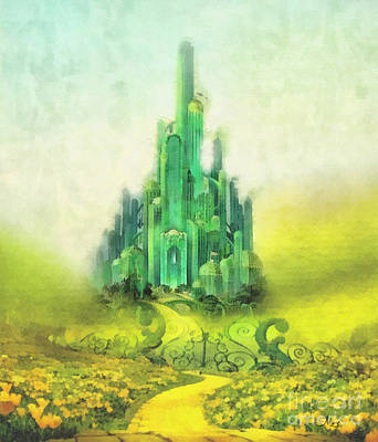 Emerald Painting - Emerald City by Mo T