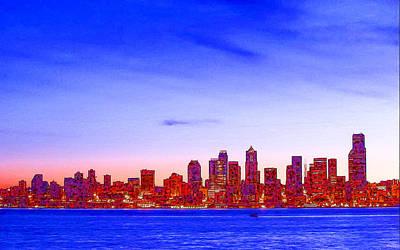 Emerald City Of Seattle Landscape 8 Art Print