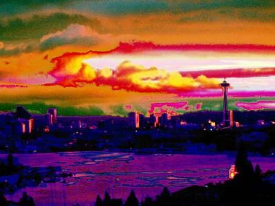 Absract Photograph - Emerald City Sunset by Tim Allen