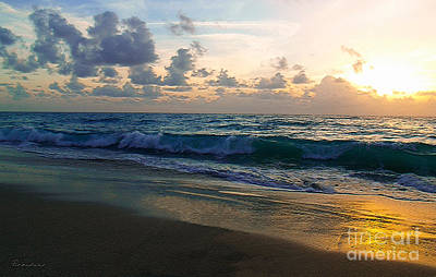 Photograph - Treasure Coast Florida Tropical Sunrise Seascape C3 by Ricardos Creations