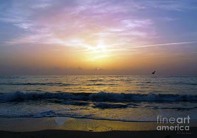 Photograph - Emerald Coast Florida Tropical Sunset Seascape B3 by Ricardos Creations