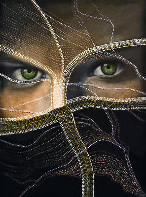 Female Mixed Media - Emerald Eyes by Joachim G Pinkawa
