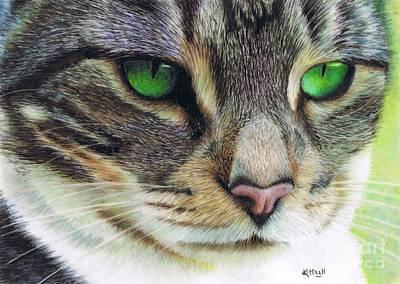 Emerald Eyes Art Print by Karen Hull