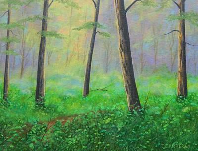 Carter.oil Painting - Emerald Forest  Carter by John Carter