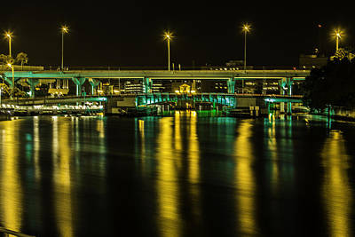 Photograph - Green And Gold Bridge by Paula Porterfield-Izzo