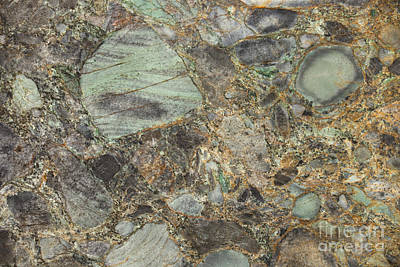 Photograph - Emerald Green Granite by Anthony Totah