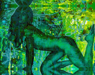 Photograph - Emerald Green Sacred Sex Graffiti by Deprise Brescia