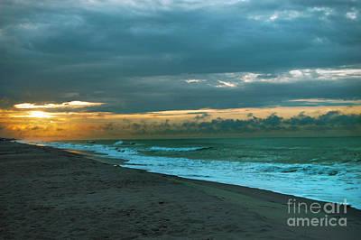 Photograph - Emerald Isle, North Carolina Sunrise by Mim White