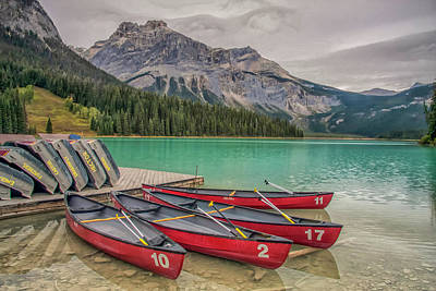 Art Print featuring the photograph Emerald Lake 2009 01 by Jim Dollar