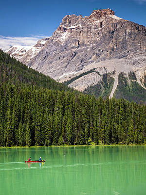 Photograph - Emerald Lake Canoe by Mark Mille