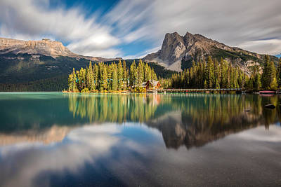 Rockies Photograph - Emerald Lake Dreamscape by Pierre Leclerc Photography