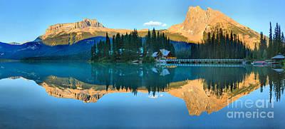 Photograph - Emerald Lake Evening Panorama by Adam Jewell