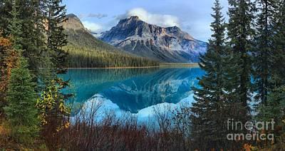 Photograph - Emerald Lake Framed by Adam Jewell