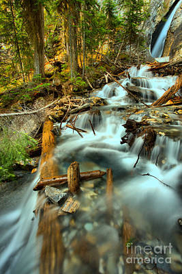 Photograph - Emerald Lake Hamilton Falls by Adam Jewell