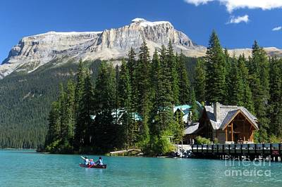 Photograph - Emerald Lake Lodge by Frank Townsley