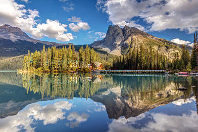 Photograph - Emerald Lake Lodge Reflection by Pierre Leclerc Photography