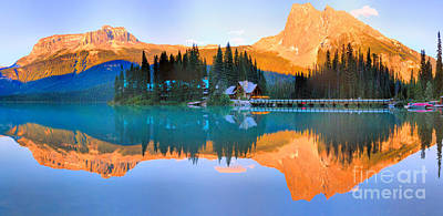 Photograph - Emerald Lake Mirror Panorama by Adam Jewell