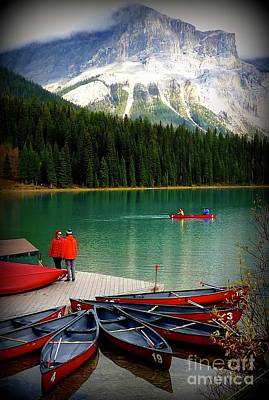 Photograph - Emerald Lake Red by Susan Garren