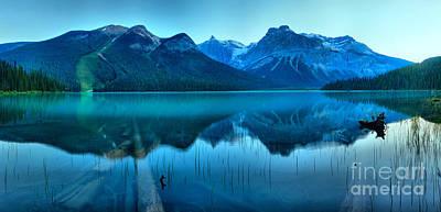 Photograph - Emerald Lake Sunrise Panorama by Adam Jewell
