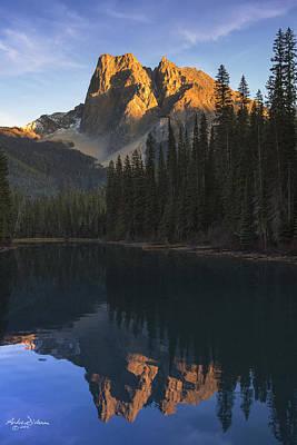Kootenay Lake Photograph - Emerald Lake Sunset by Andrew Dickman