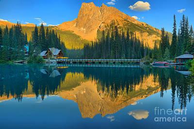 Photograph - Emerald Lake Sunset Glow by Adam Jewell