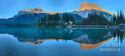 Photograph - Emerald Lake Sunset Panorama by Adam Jewell