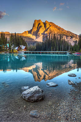 Photograph - Emerald Lake Sunset by Pierre Leclerc Photography