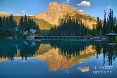 Photograph - Emerald Lake Yoho Sunset Reflections by Adam Jewell