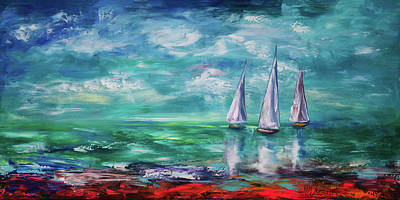 Painting - Emerald Morning by OLena Art Brand