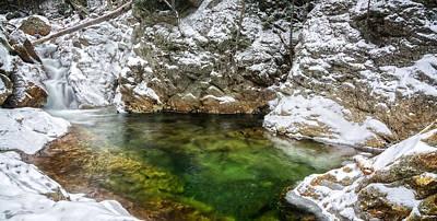 Photograph - Emerald Pool Ellis River Nh by Michael Hubley
