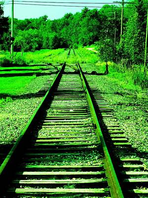 Photograph - Emerald Rails by Bill Tomsa