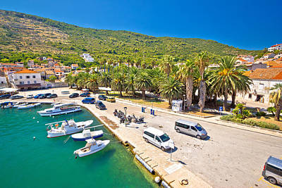 Photograph - Emerald Sea And Palm Waterfront Of Vis by Brch Photography