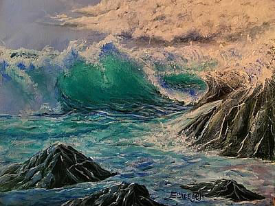 Painting - Emerald Sea by Esperanza J Creeger