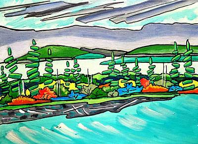 Painting - Emerald Sea Islands by Nikki Dalton