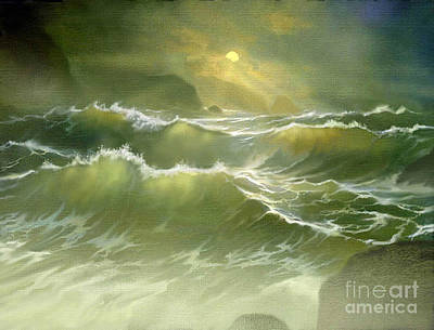 Shards Painting - Emerald Sea by Robert Foster