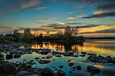 Emerald Sky Reflection Art Print
