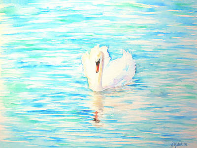 Painting - Emerald Swan by Elizabeth Lock