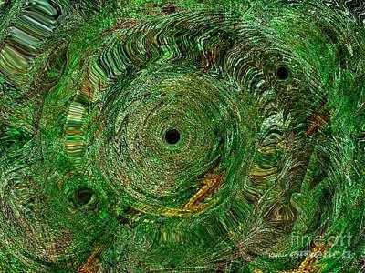 Emerald Swirls Art Print by Kathie Chicoine