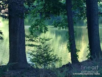 Painting - Emerald Tranquility by Anna Folkartanna Maciejewska-Dyba