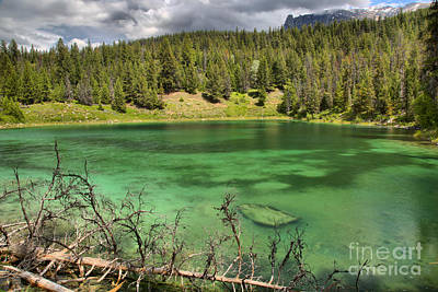 Photograph - Emerald Waters And Storm Clouds In The Valley Of 5 Lakes by Adam Jewell